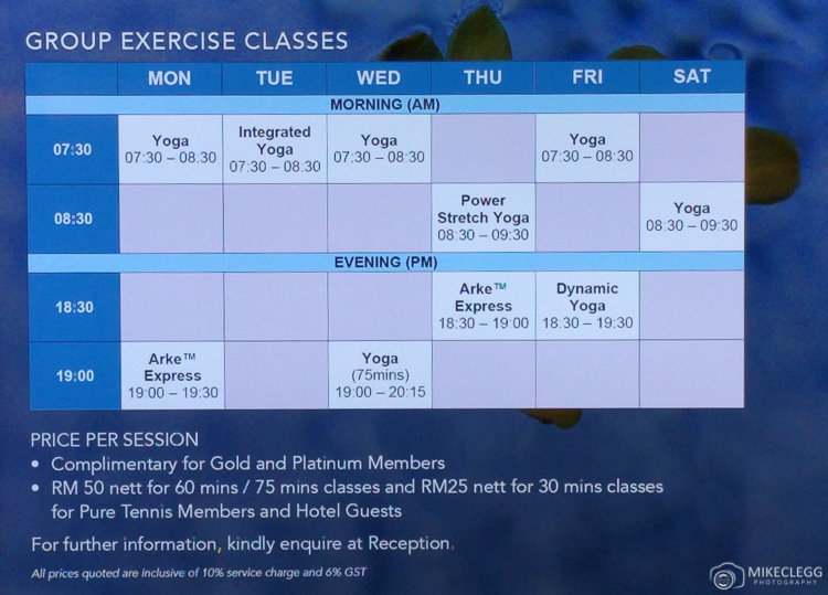 Fitness Classes at Mandarin Oriental, KL
