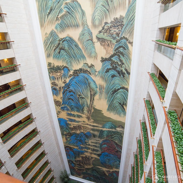 Great Motherland of China silk mural