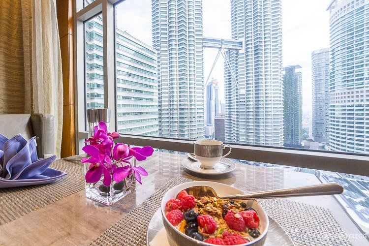 Mandarin Oriental - Views of the Petronas Twin Towers from the Club Lounge
