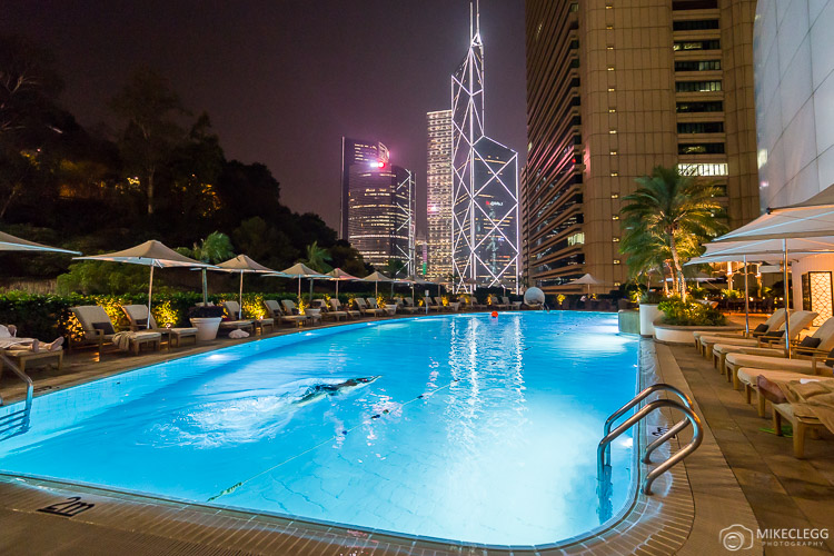 Outdoor pool at the Island Shangri-La Hong Kong