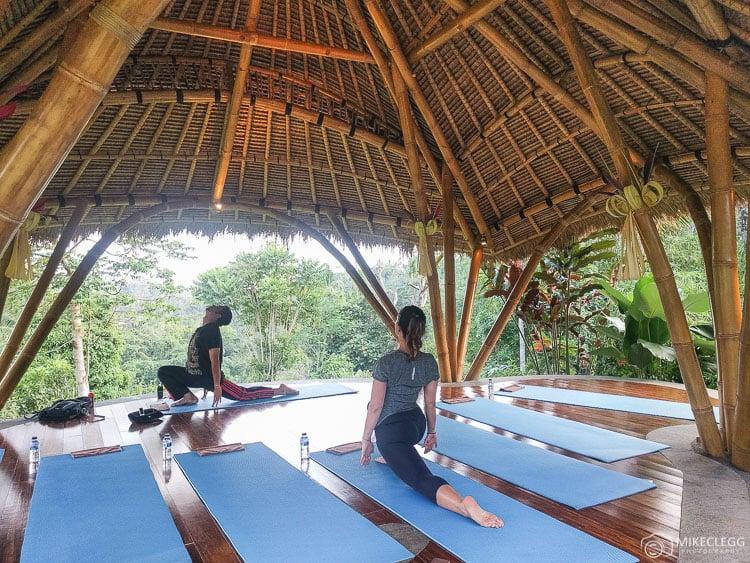 Yoga in the jungle, Ubud