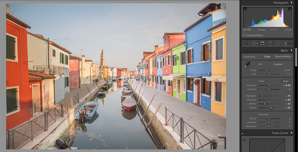 Burano Edit Example - First Step
