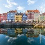 Colourful buildings along Nyhavn in Copenhagen