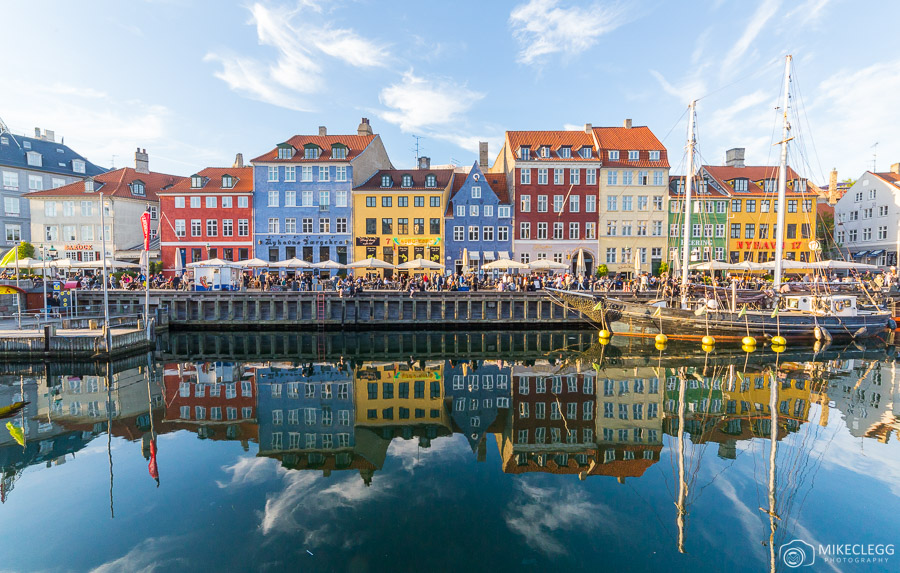 Colourful buildings along Nyhavn in Copenhagen