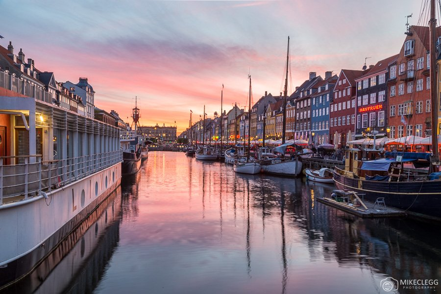 Colourful sunsets in Copenhagen