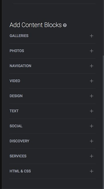 Content blocks and design mode, Smugmug