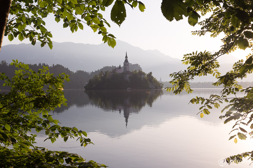 Editing Example - Bled Lake Sunrise - Starting image