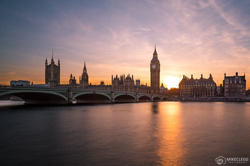 London, UK at sunset