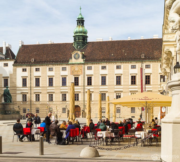 Outside dining in Vienna