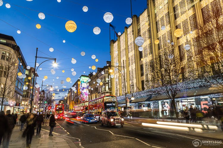 Oxford Street at Christmas
