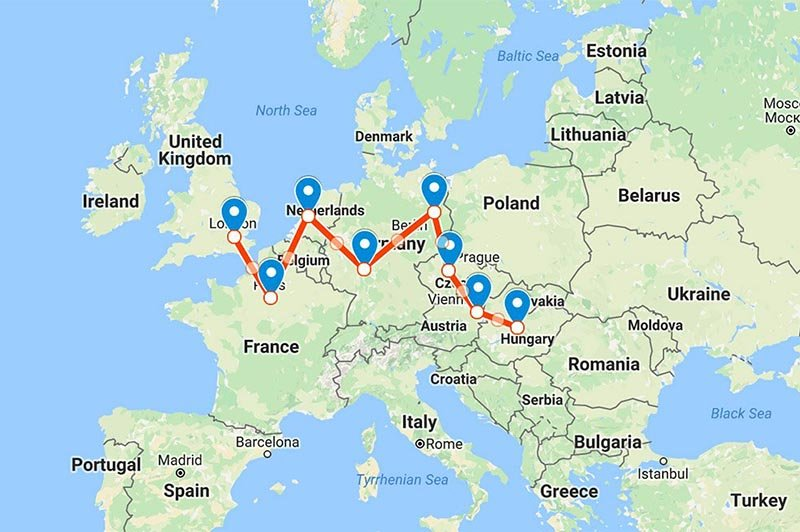 Planning a Multi-Destination Trip