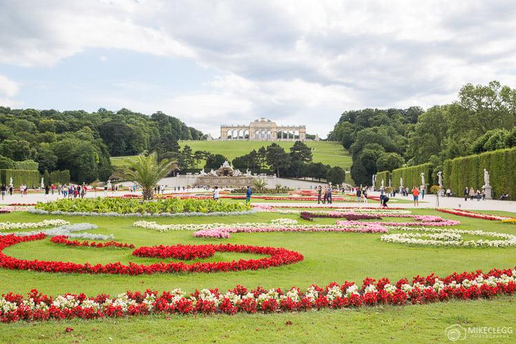 Schonbrunn Park in the summer