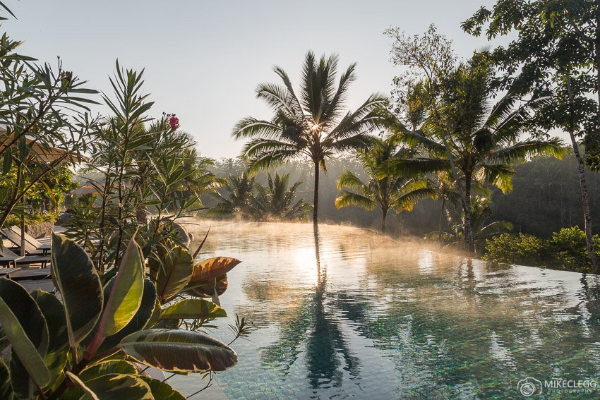 Sunsets and pools at luxury hotels