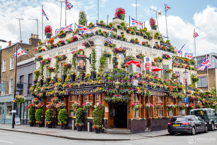 The Churchill Arms, Pub in London
