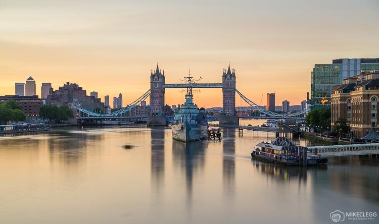 Tower Bridge at sunrise