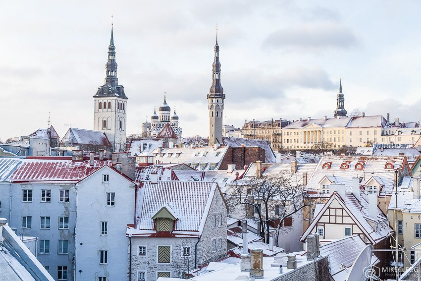 Tallinn in the winter
