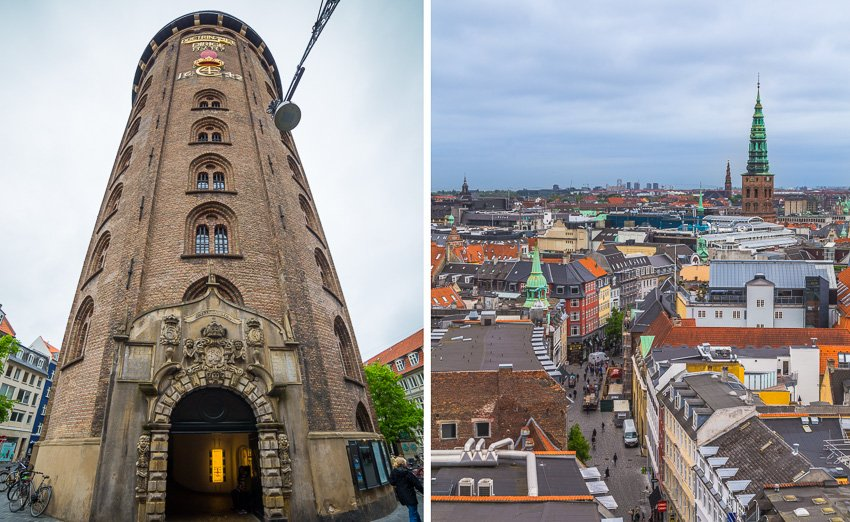 Views from the Round Tower in Copenhagen