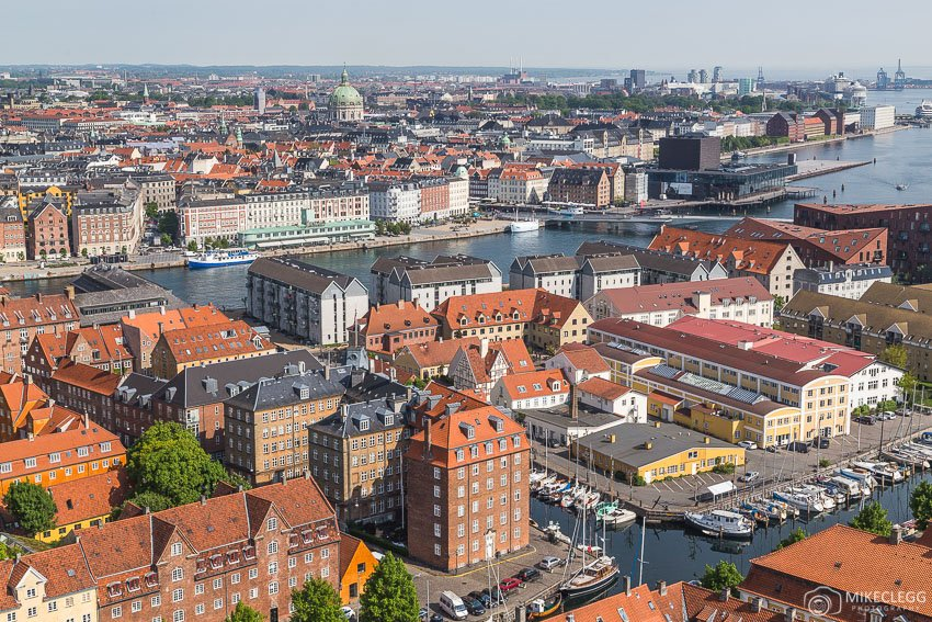 Views of Copenhagen from Church of our Saviour