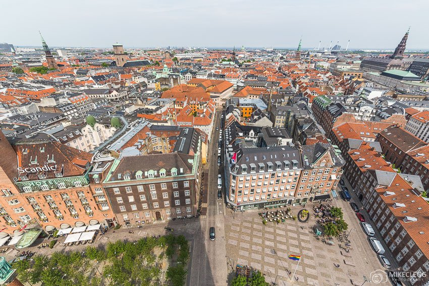 Views of Copenhagen from City Hall Tower