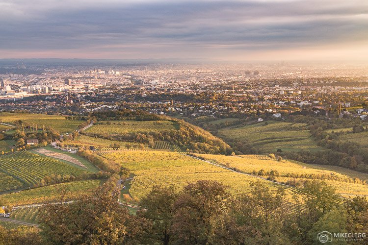 Views of Vienna from Kahlenberg at sunset