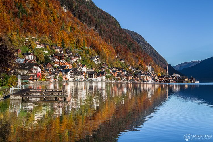 Hallstatt from the south of the village