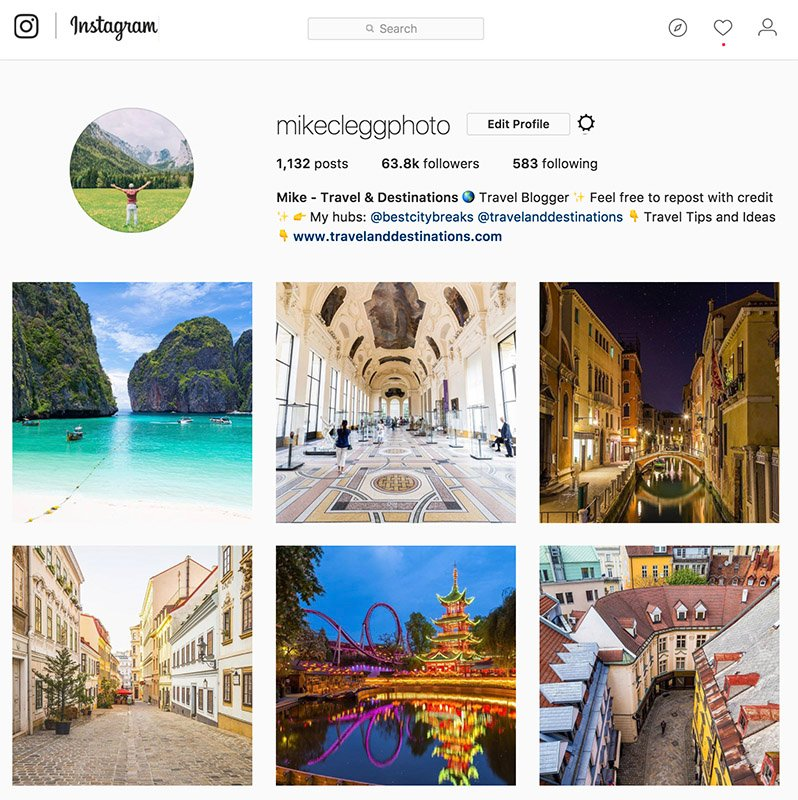 Instagram Desktop version screenshot