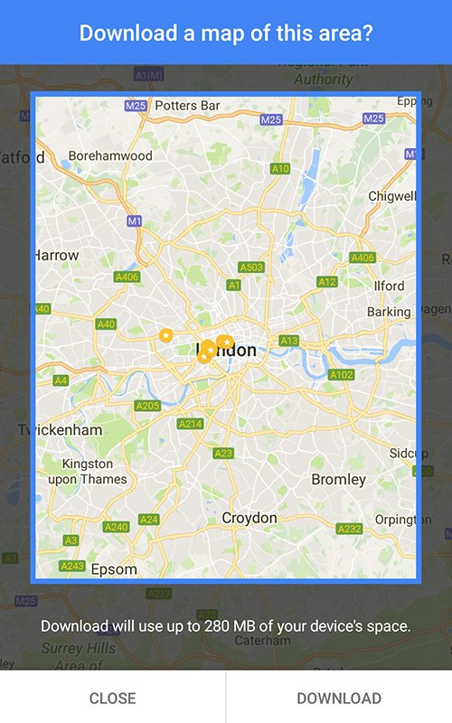 London - Google offline map
