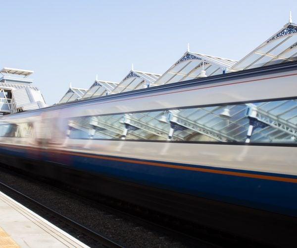 Train going past