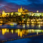 Travel Photography - Prague at night with reflections