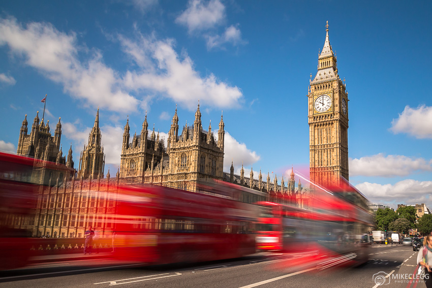Westminster and London buses