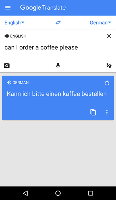 Google Translate App Screenshot - Android