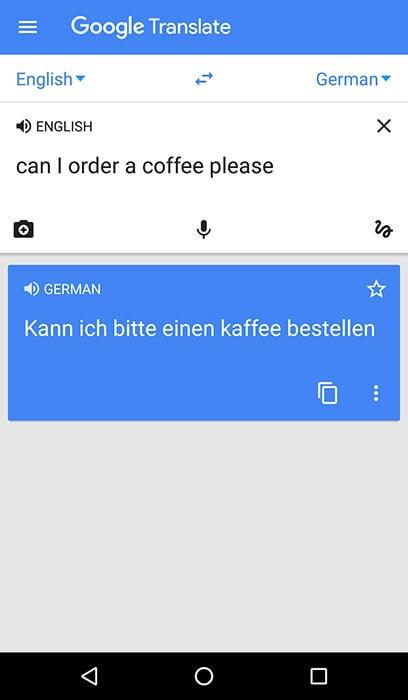 Google Translate App Screenshot - Android