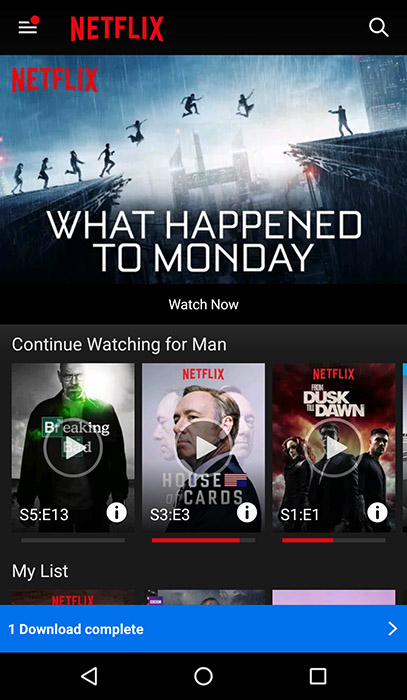 Netflix App Screenshot - Android