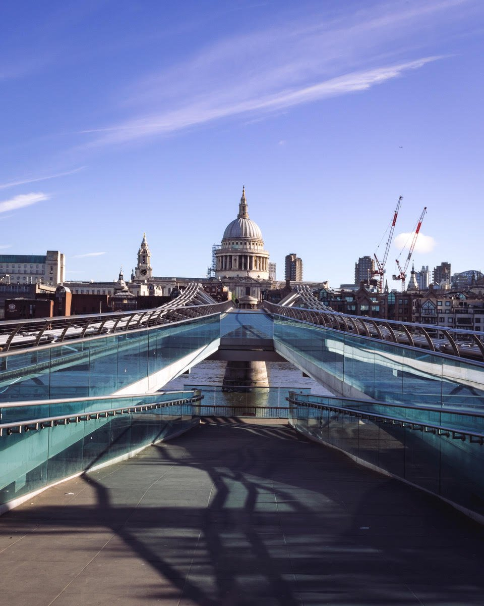 St Pauls Cathedral and Millenium Bridge by Neil Andrews