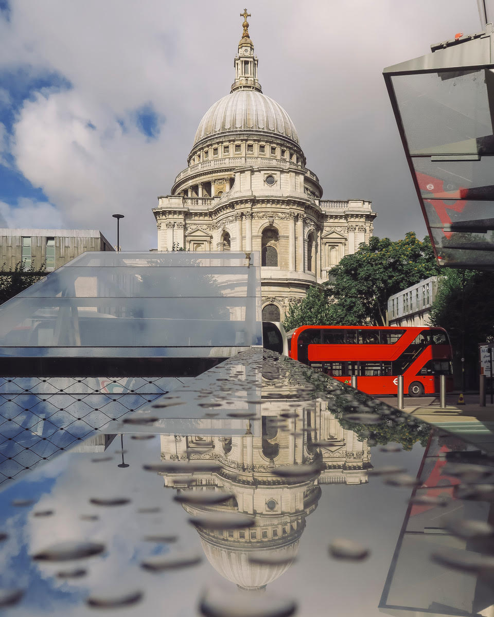 St Pauls Cathedral and reflections by Neil Andrews