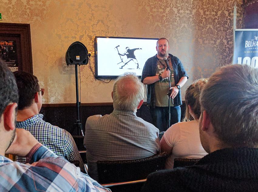 Stand-up comedy at Fringe Festival - Edinburgh