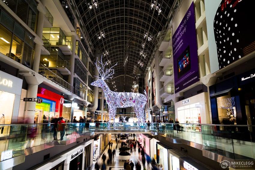 Toronto Eaton Centre at Christmas