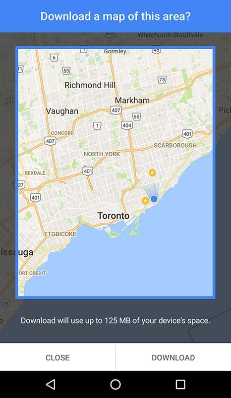 Toronto Offline Maps Google Screenshot
