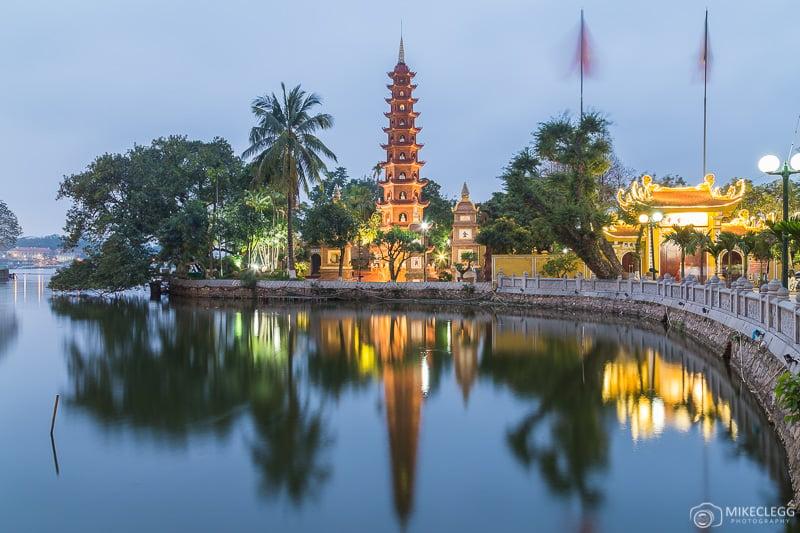 Tran Quoc Pagoda, Hanoi blue hour