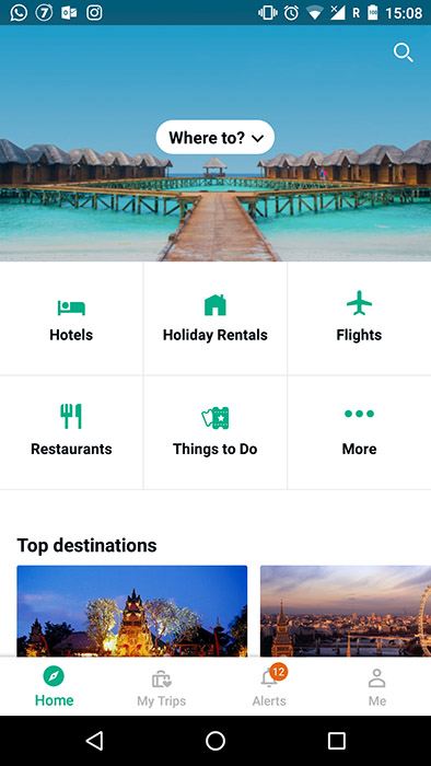 Tripadvisor App screenshot - Android