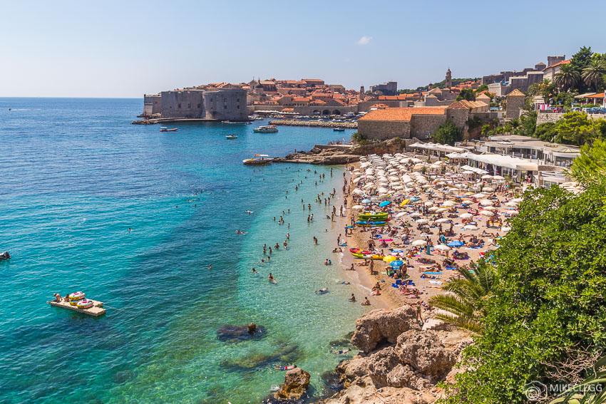 Banje Beach, Dubrovnik in the summer
