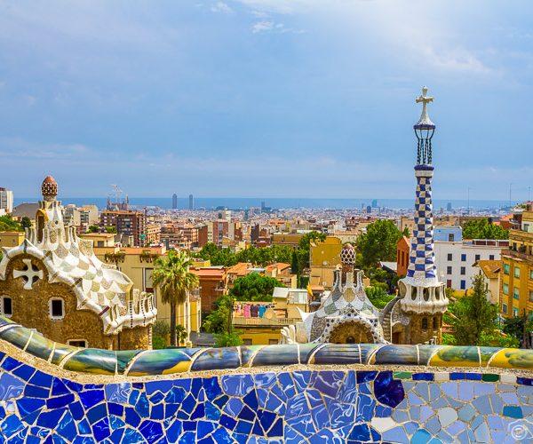 Barcelona, Spain Skyline, Park Guell