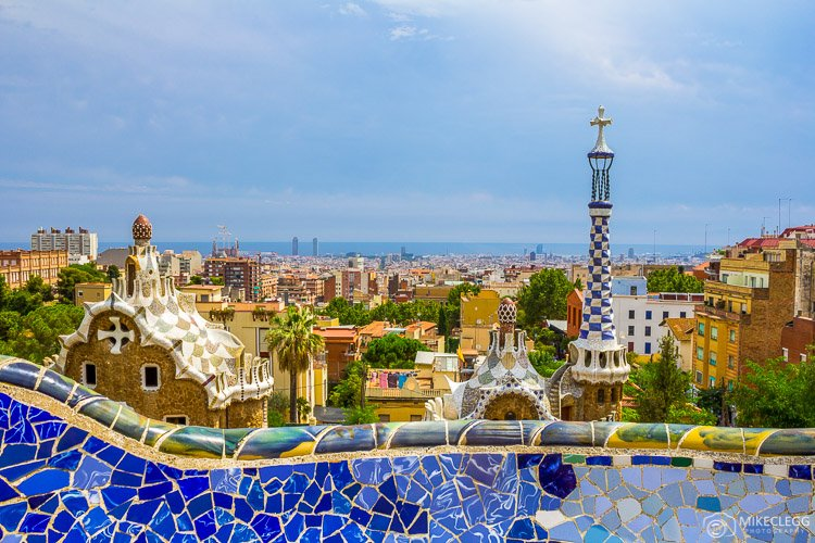 Barcelona, Spain Skyline, Park Guell