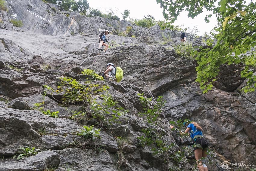 Climbing Via Ferrata - Die Zahme Gams, Saalachtal, Austria