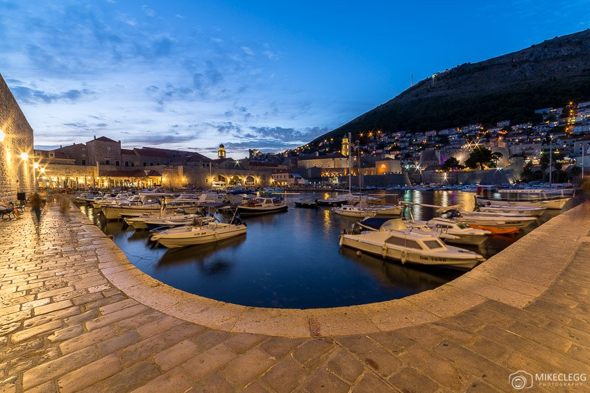Dubrovnik Old Town Port at night