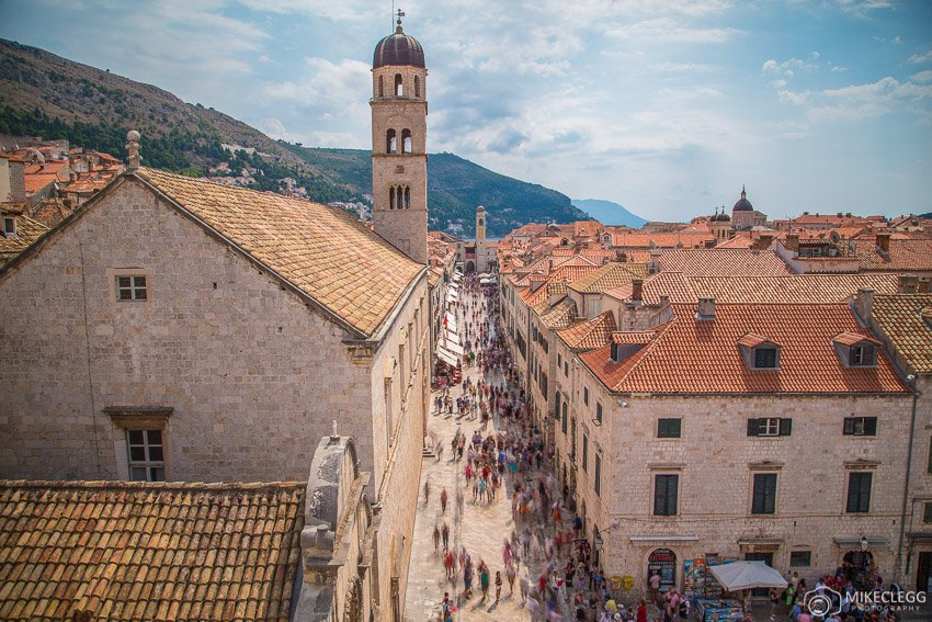 Stradun from the City Walls, Dubrovnik