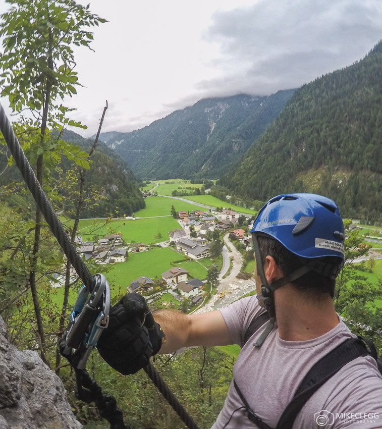 View from the top when climbing Climbing Via Ferrata