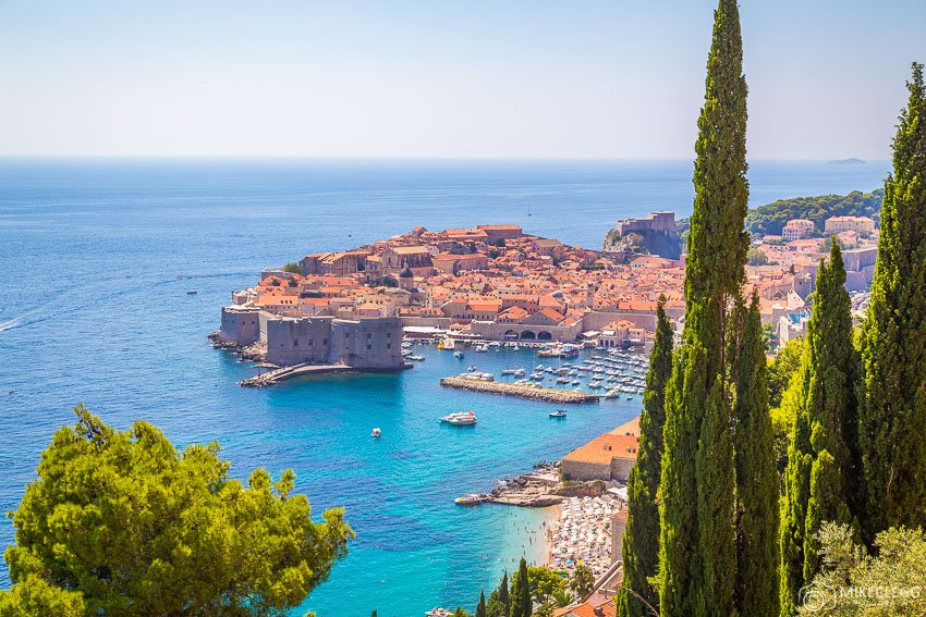 Views of Dubrovnik during the summer