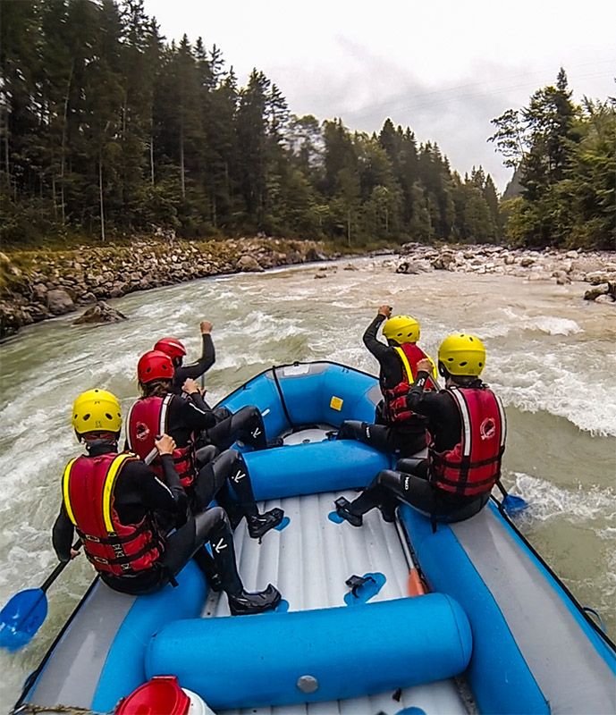 White Water Rafting on Saalach river, Austria