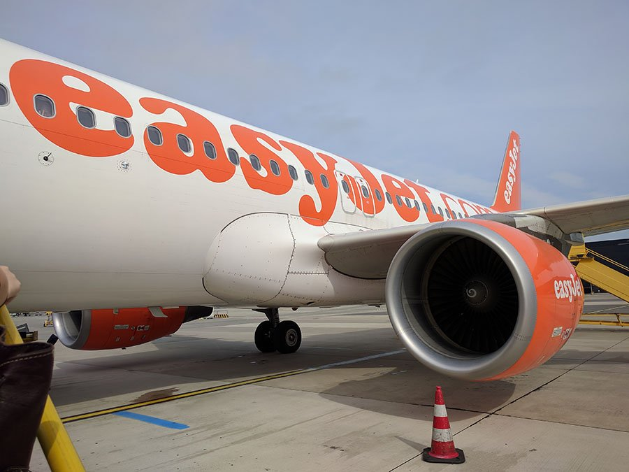 easyJet plane parked on a runway
